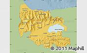 Savanna Style Map of Carabobo, single color outside