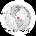 Outline Map of Carabobo