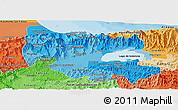 Political Shades Panoramic Map of Carabobo