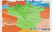 Political Shades Panoramic Map of Cojedes