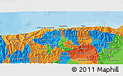 Political 3D Map of Distrito Federal