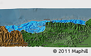 Political Shades 3D Map of Distrito Federal, darken