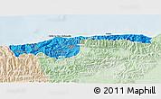 Political Shades 3D Map of Distrito Federal, lighten