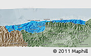 Political Shades 3D Map of Distrito Federal, semi-desaturated