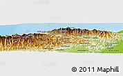 Physical Panoramic Map of Vargas