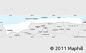 Silver Style Simple Map of Vargas