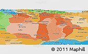 Political Shades Panoramic Map of Guarico