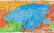 Political Shades 3D Map of Lara