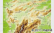 Physical Map of Lara