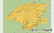 Savanna Style Map of Lara, single color outside