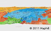 Political Shades Panoramic Map of Lara