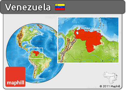 Free Physical Location Map Of Venezuela - Physical of map venezuela
