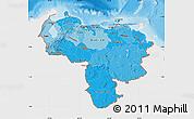 Political Shades Map of Venezuela, single color outside