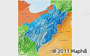 Political Shades 3D Map of Merida
