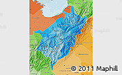 Political Shades Map of Merida