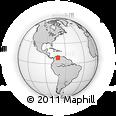 Outline Map of Merida