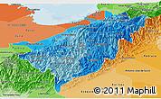 Political Shades Panoramic Map of Merida