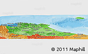 Political Shades Panoramic Map of Miranda