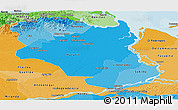 Political Shades Panoramic Map of Monagas