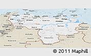 Classic Style Panoramic Map of Venezuela
