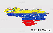 Flag Panoramic Map of Venezuela