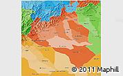 Political Shades 3D Map of Portuguesa
