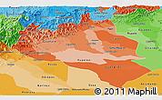 Political Shades Panoramic Map of Portuguesa