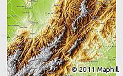 Physical Map of Bocono