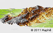 Physical Panoramic Map of Bocono