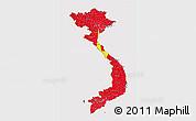 Flag 3D Map of Vietnam