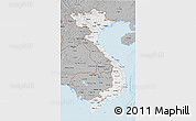 Gray 3D Map of Vietnam