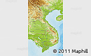 Physical 3D Map of Vietnam