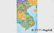 Political 3D Map of Vietnam