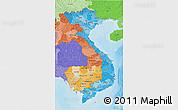 Political Shades 3D Map of Vietnam