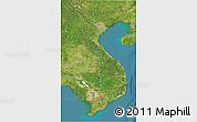 Satellite 3D Map of Vietnam