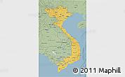 Savanna Style 3D Map of Vietnam