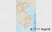 Shaded Relief 3D Map of Vietnam