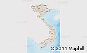 Shaded Relief 3D Map of Vietnam, single color outside
