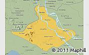 Savanna Style 3D Map of An Giang