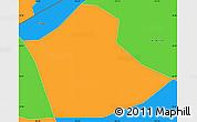 Political Simple Map of Chau Phu