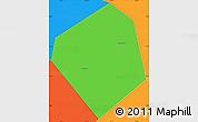 Political Simple Map of Long Xuyen