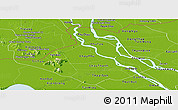 Physical Panoramic Map of An Giang