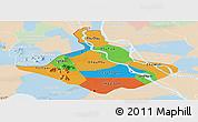Political Panoramic Map of An Giang, lighten