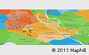 Political Shades Panoramic Map of An Giang