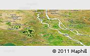 Satellite Panoramic Map of An Giang