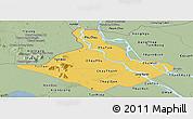 Savanna Style Panoramic Map of An Giang