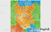 Political Shades 3D Map of Bac Thai