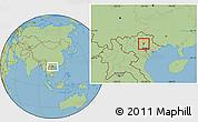 Savanna Style Location Map of Dinh Hoa