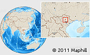 Shaded Relief Location Map of Dinh Hoa