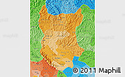 Political Shades Map of Bac Thai